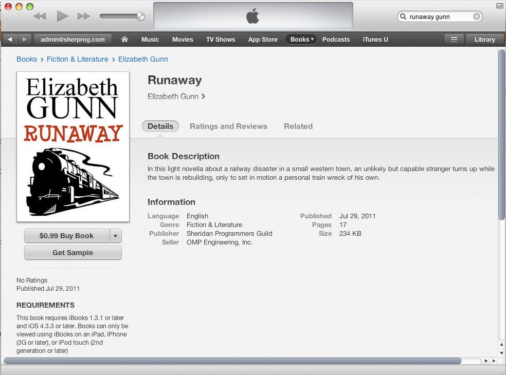 RunawayIbookInItunes