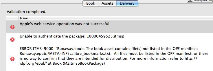 iTunes Producer error itms-9000