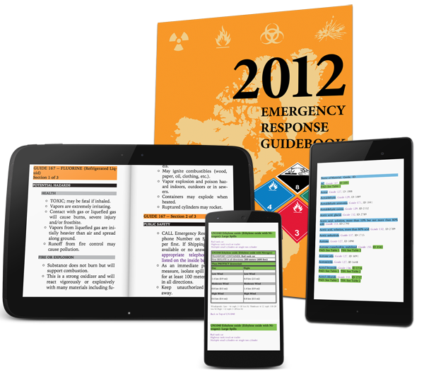 ERG 2012 ebook & DOT Placards Apps