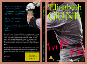 Elizabeth Gunn Triple Play Cover showing Createspace template