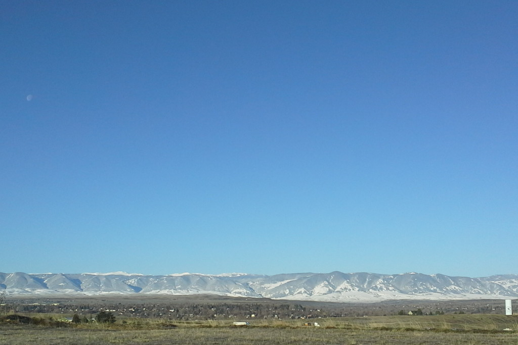Big Horn mountains with April Snow