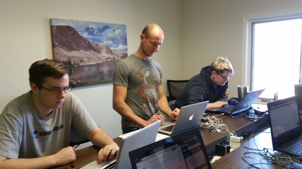 Coders of the West Wyoming technology internship interns