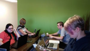 Coders of the West interns working